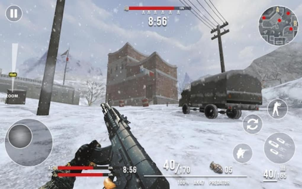 Rules of Modern World War Winter FPS Shooting Game for