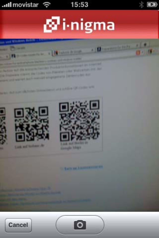 i-nigma QR Code, Data Matrix and 1D barcode reader für iPhone - Download