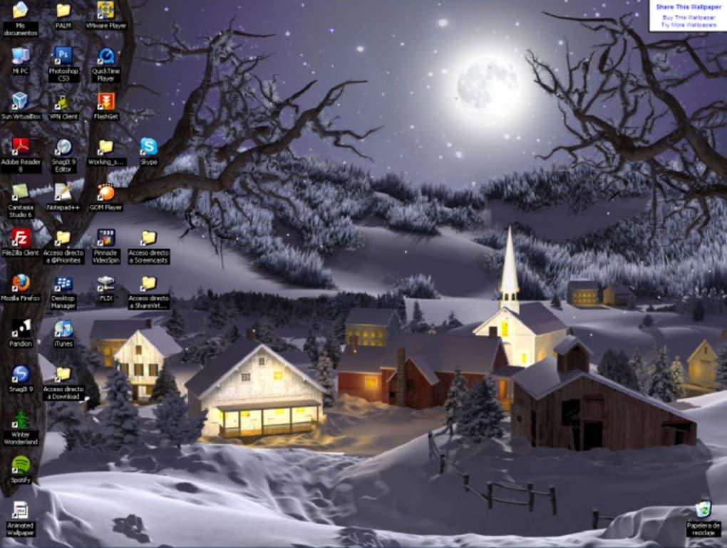 Immagini Natale Desktop Animate.3d Winter Wonderland Animated Wallpaper Download