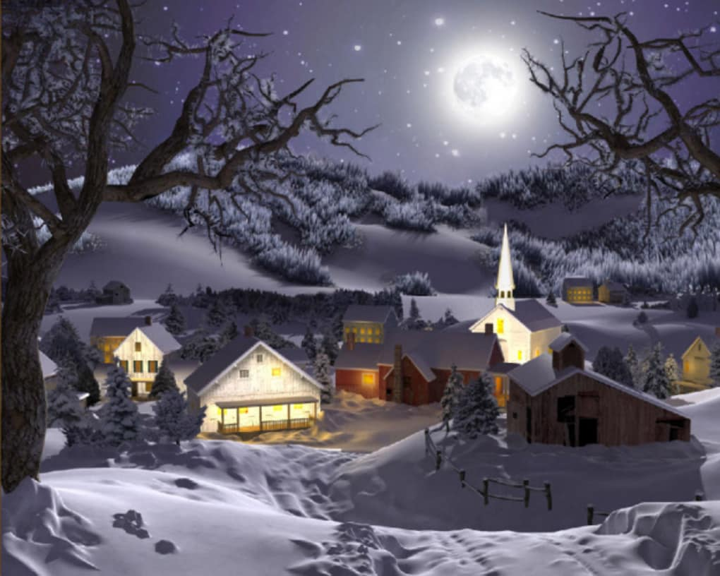 3d Winter Wonderland Animated Wallpaper Descargar