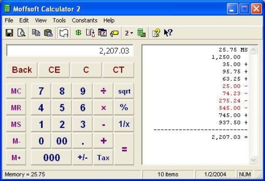 calculator.exe windows xp
