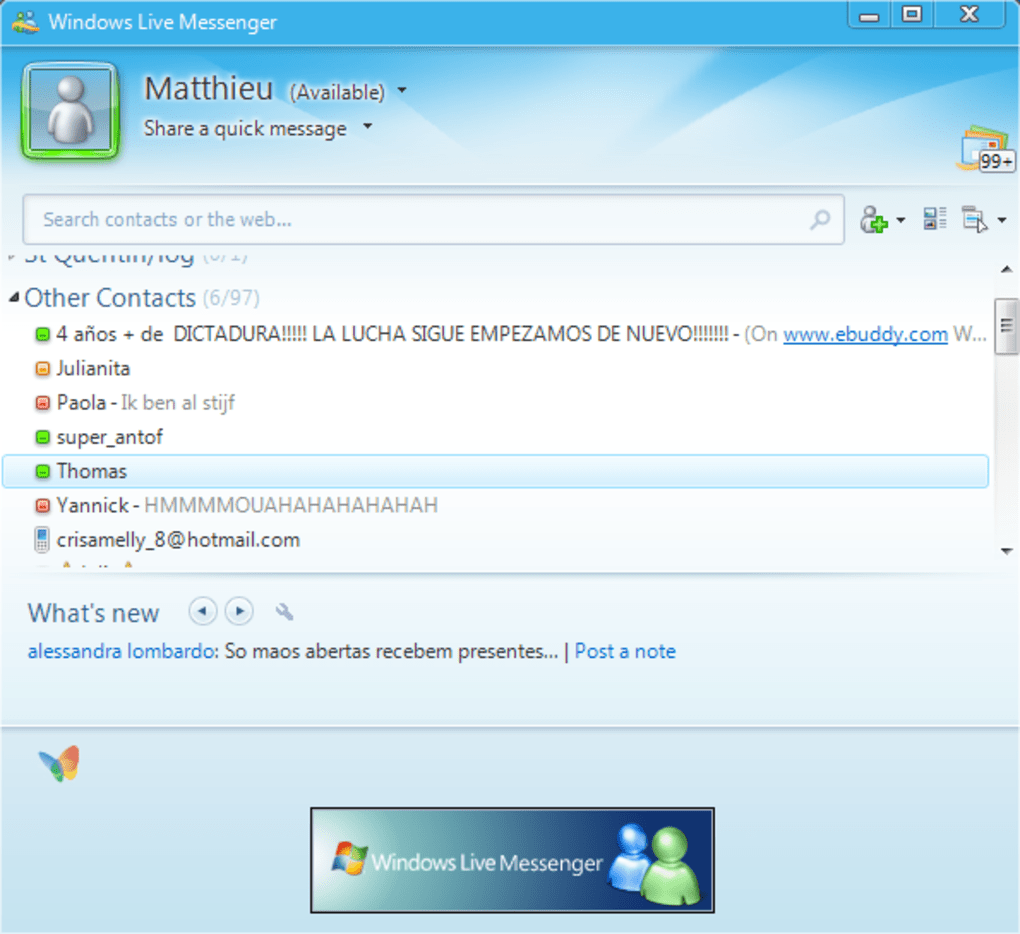 Portable windows live messenger windows download for Windows 7 portable