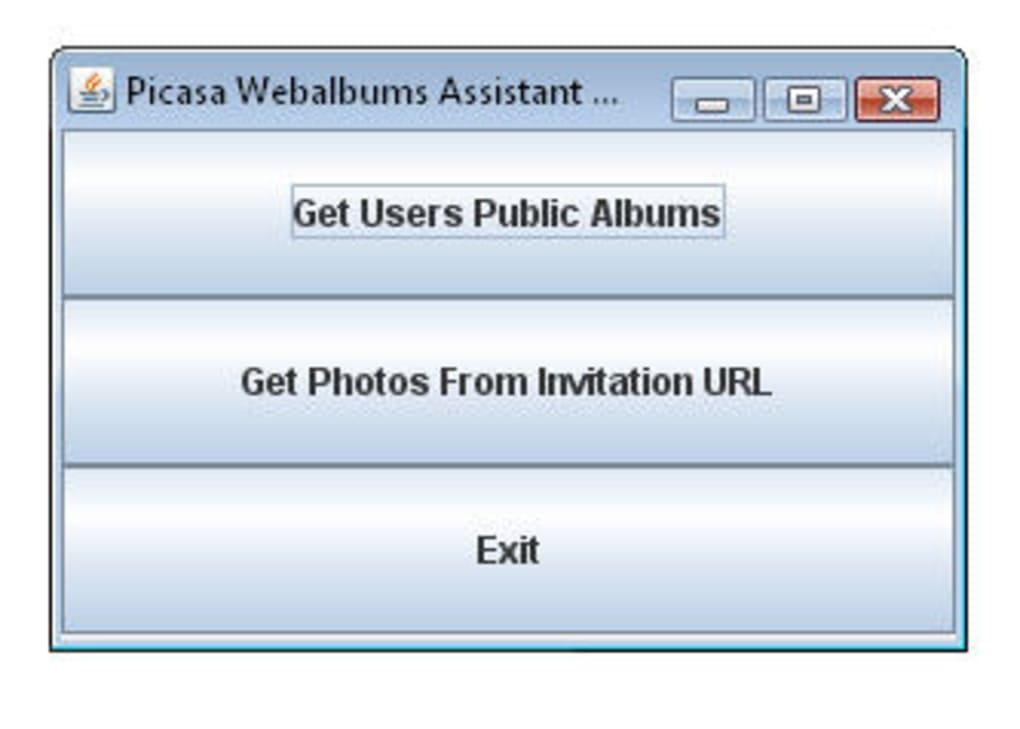 Picasa Webalbums Assistant - Download