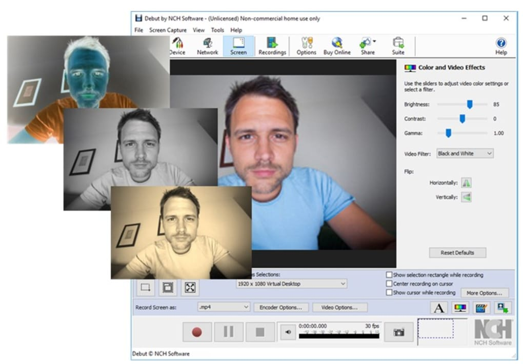 debut video capture software download full free