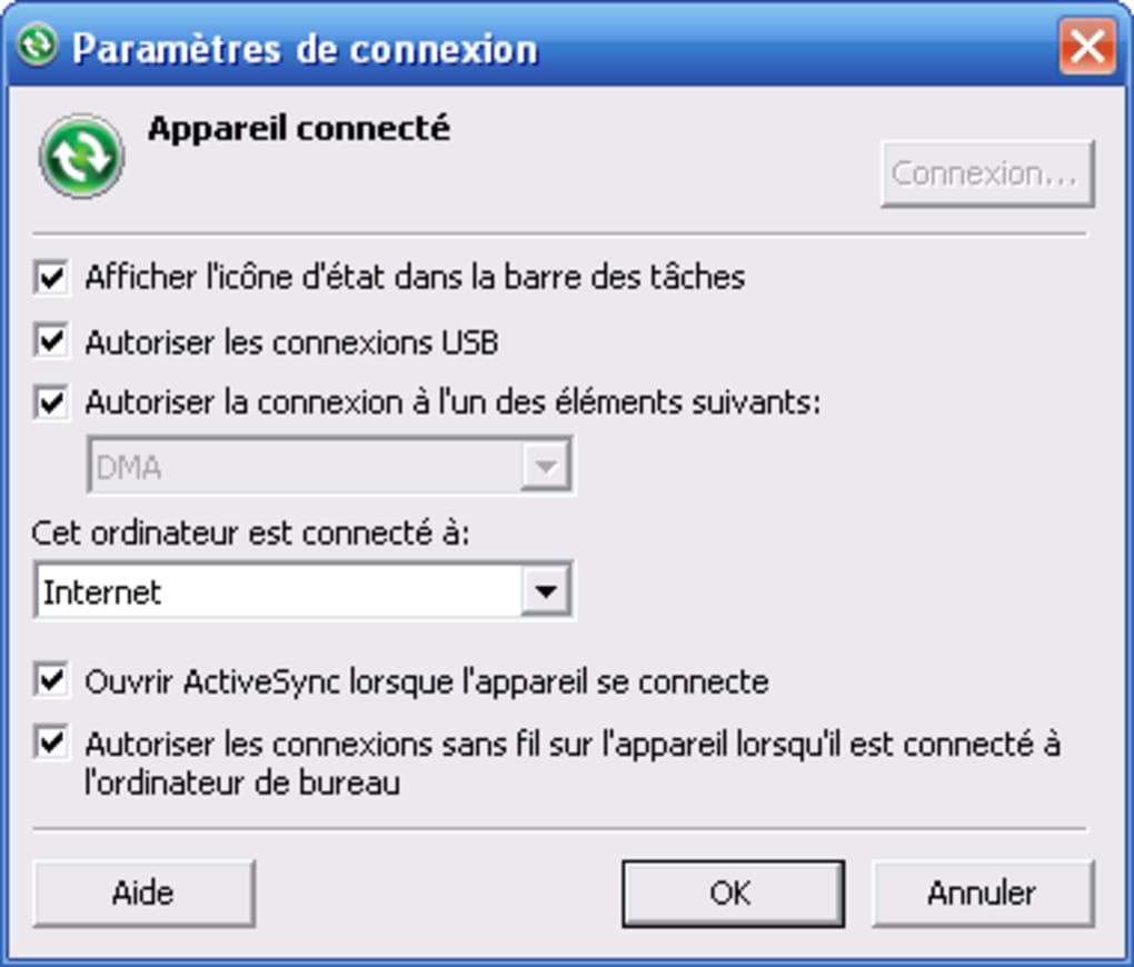 gratuitement activesync pour windows 7