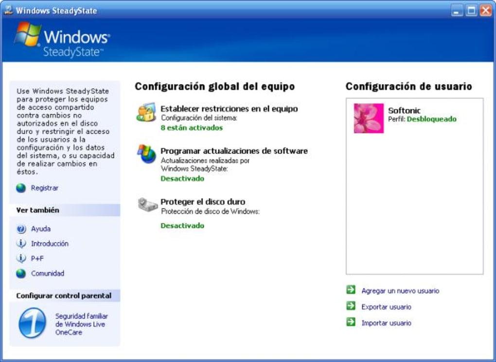 Windows SteadyState