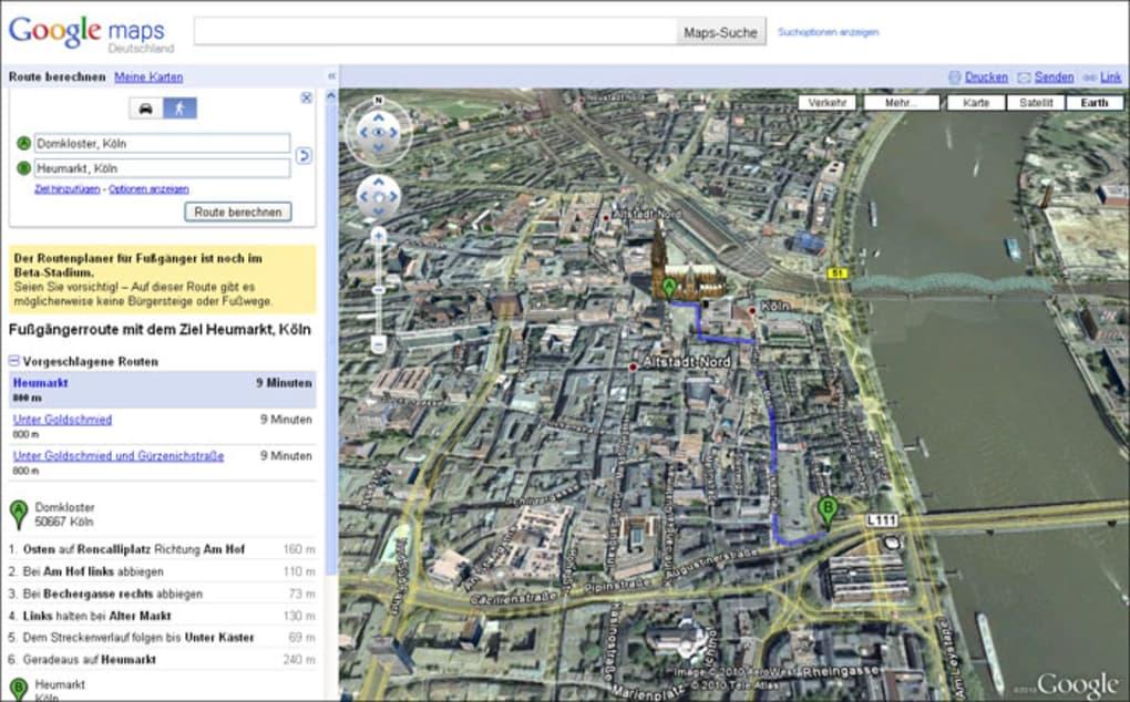 Entfernungsmessung Mit Google Maps : Google maps online