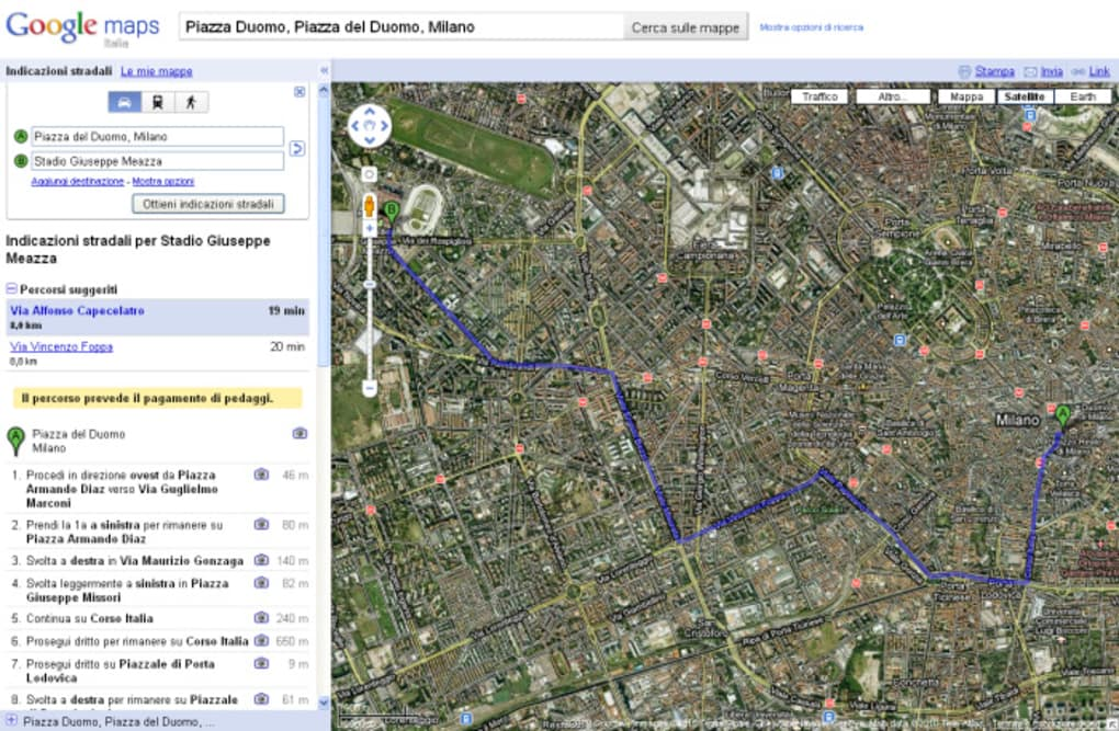 google maps 3d italiano