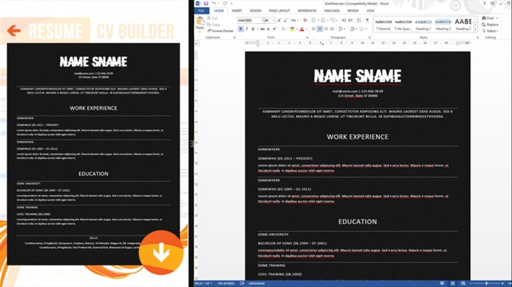 Resume Cv Builder Download