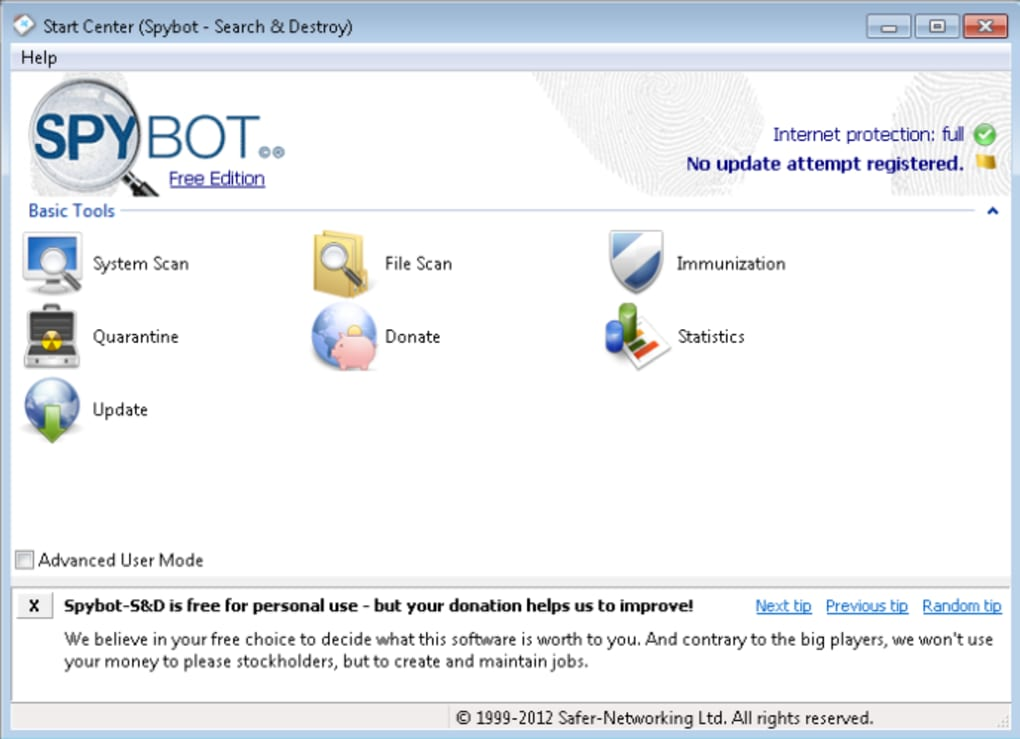 Spybot-Search-Destroy-Free