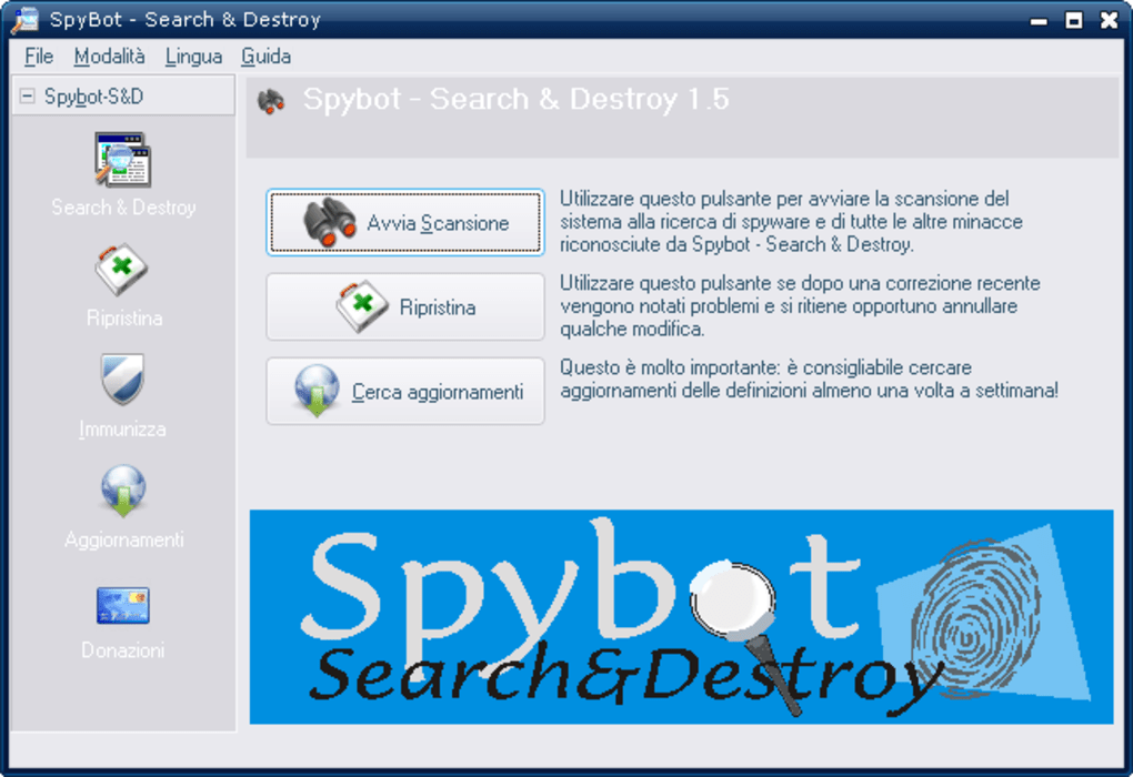 spybot search destroy italiano