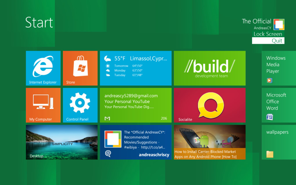 Windows 8 Start Screen Full (Windows)