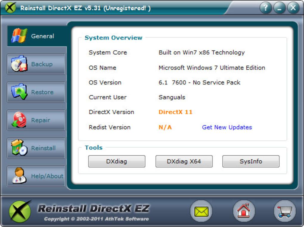 Reinstall DirectX EZ - Download