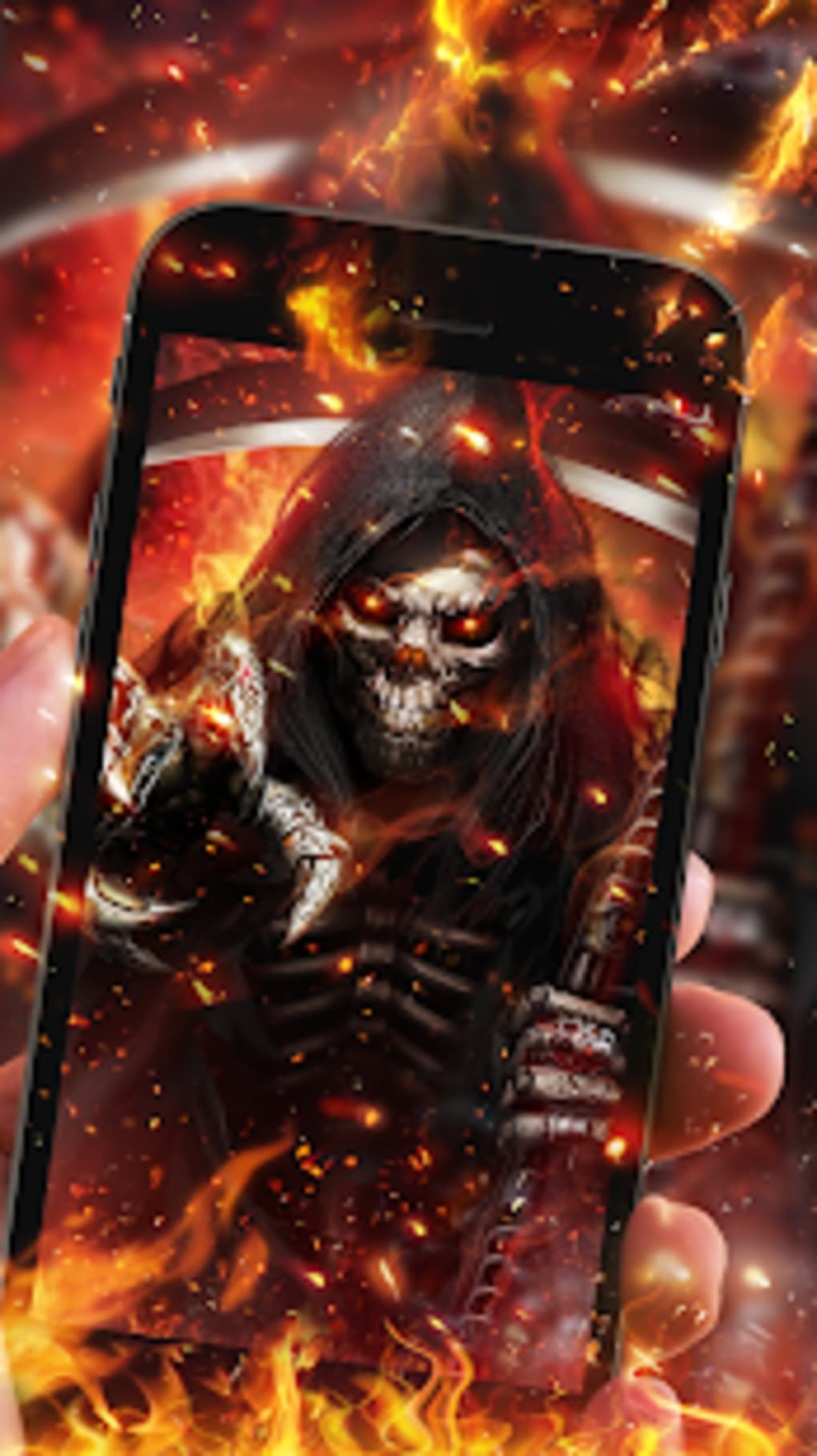 Flaming Grim Reaper Live Wallpaper Apk For Android Download