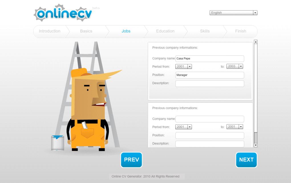 online cv generator online