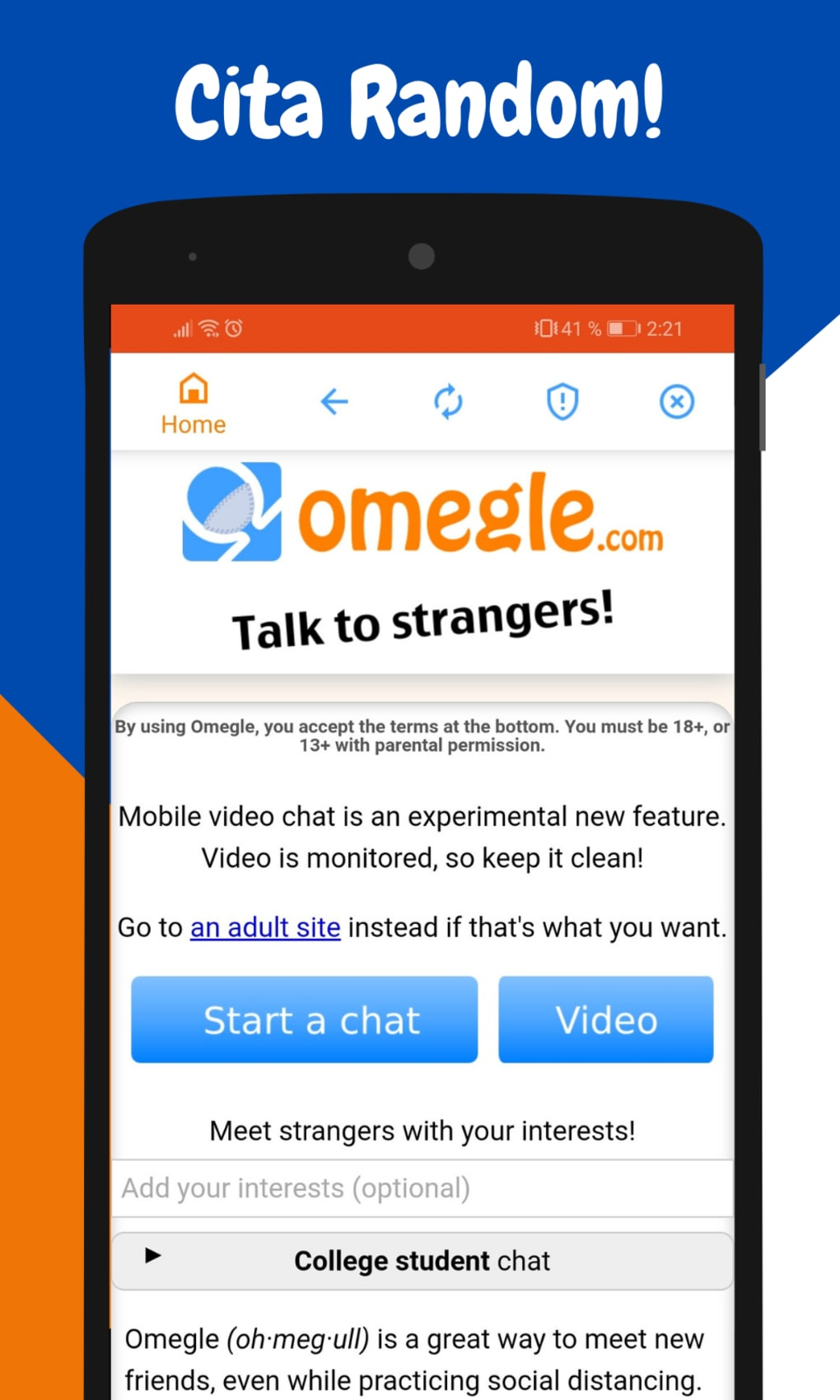 60 Best Photos Omegle Mobile Free App - Best Sites Like