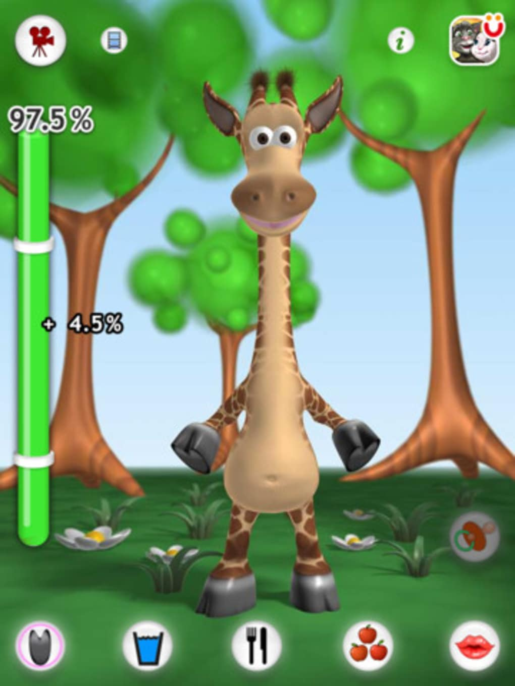 Talking gina the giraffe for ipad for iphone download.