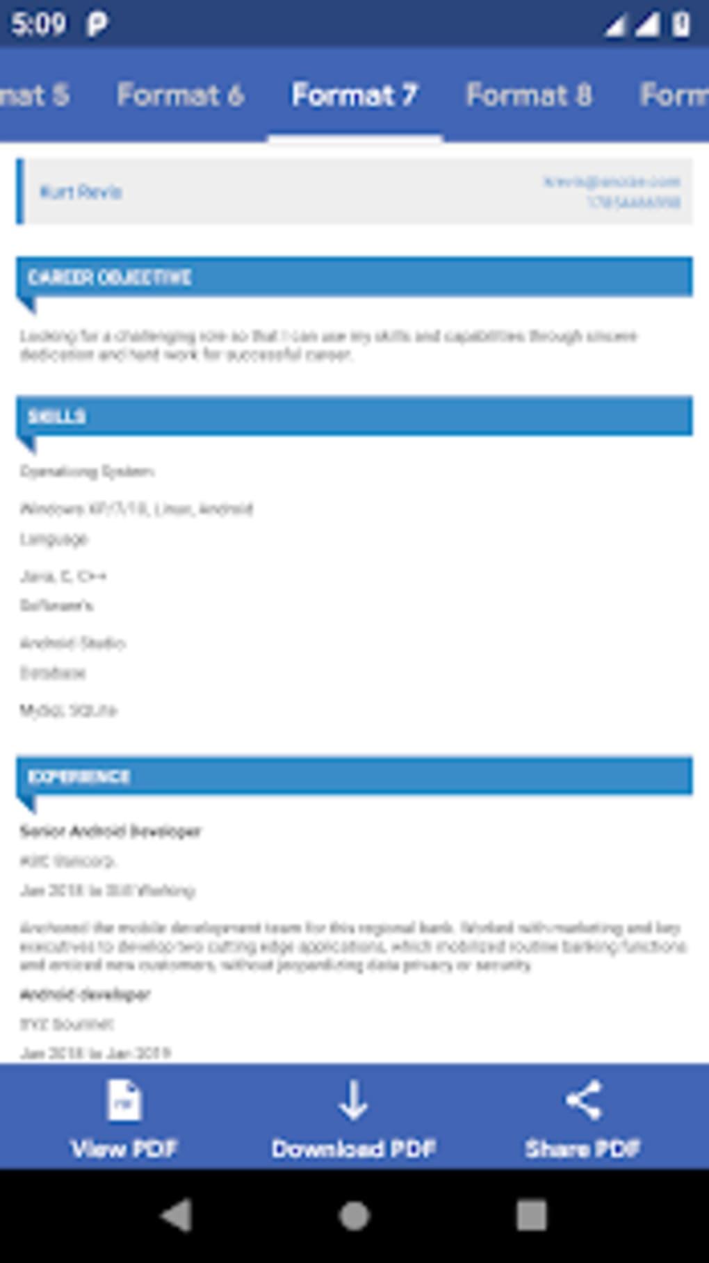 Resume PDF Maker - CV Maker for Android - Download