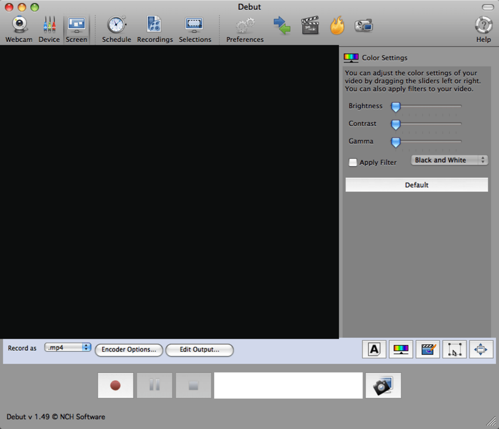Debut Video Capture Software for Mac (Mac) - Descargar