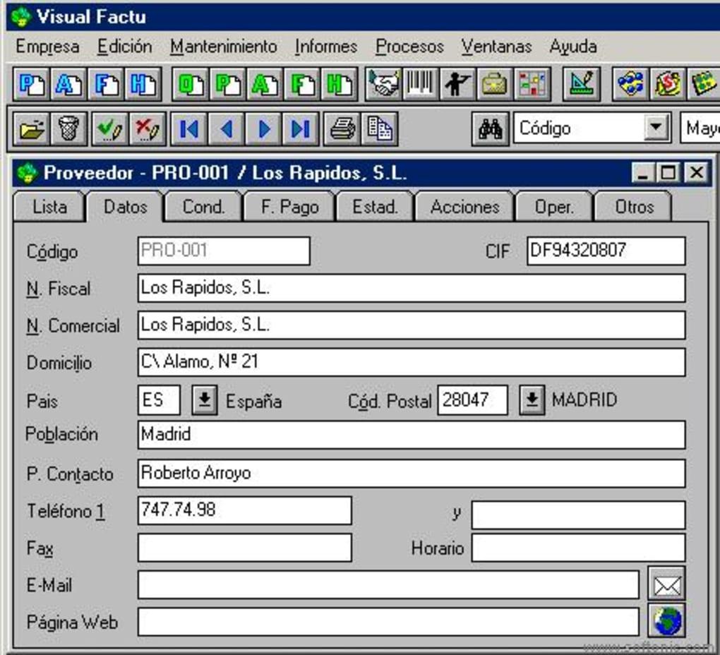 visual factu para windows 7
