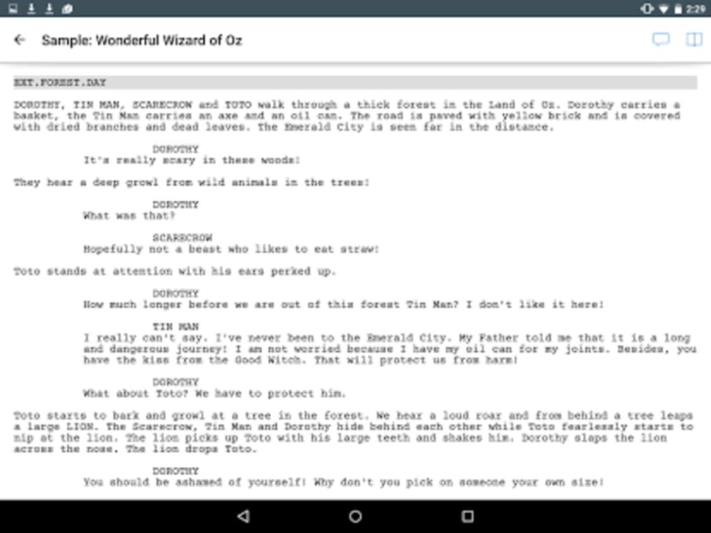 Celtx Script for Android - Download