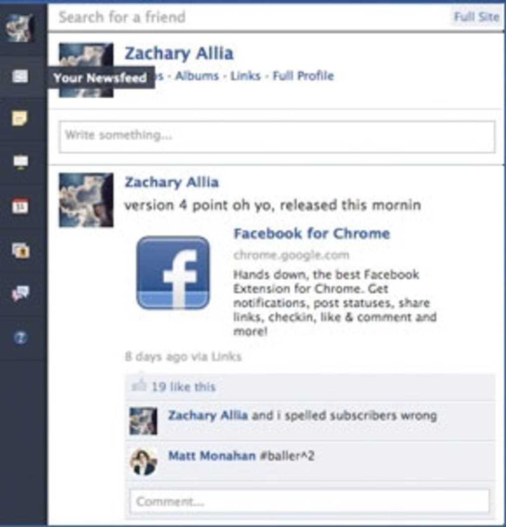 Facebook for Chrome - Descargar