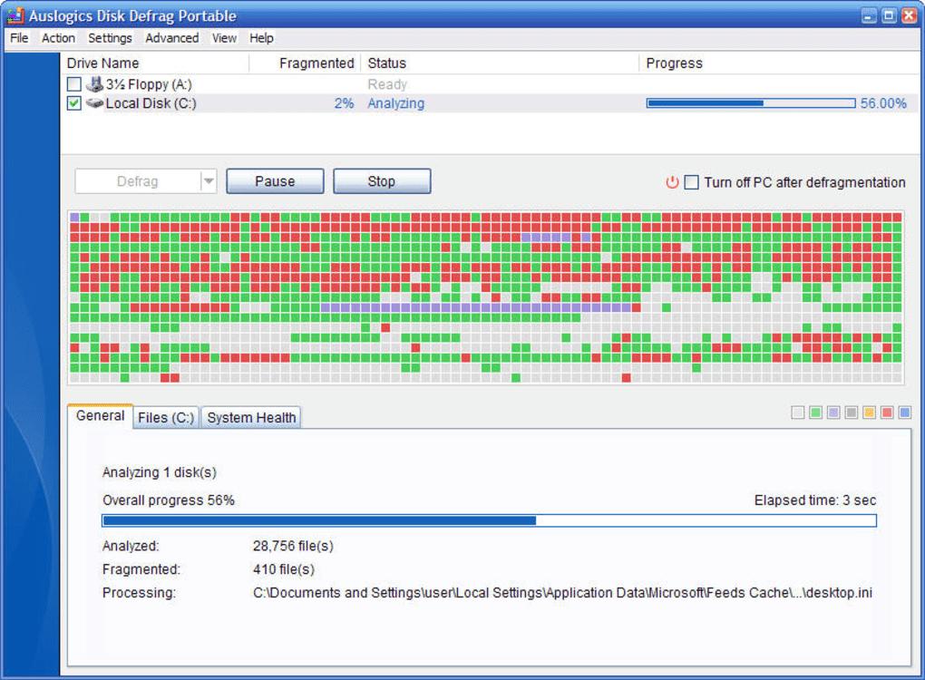 auslogics disk defrag in italiano