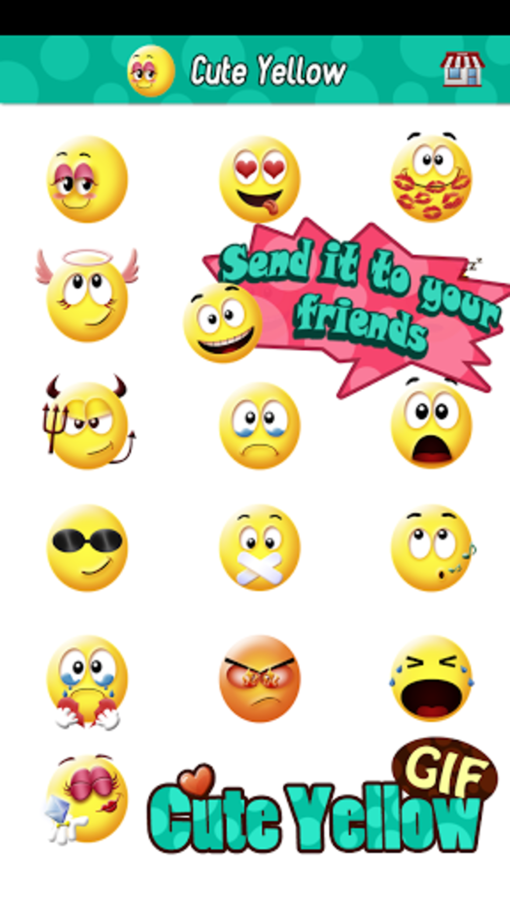 Cute Smiley Gif Emoji Sticker Para Android Descargar