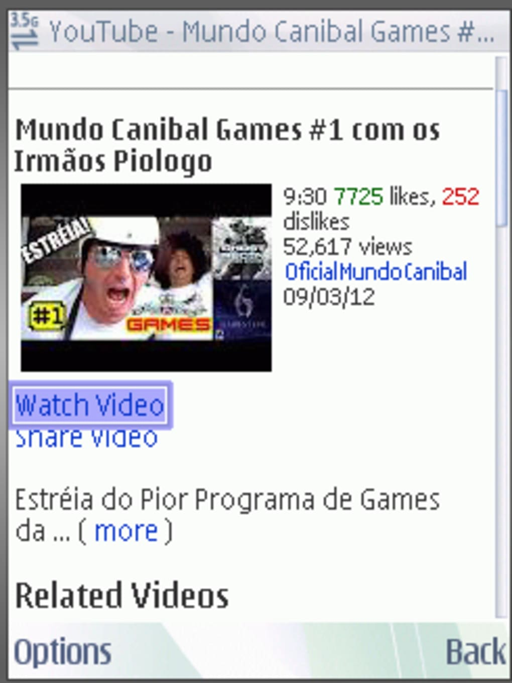video do mundo canibal para celular