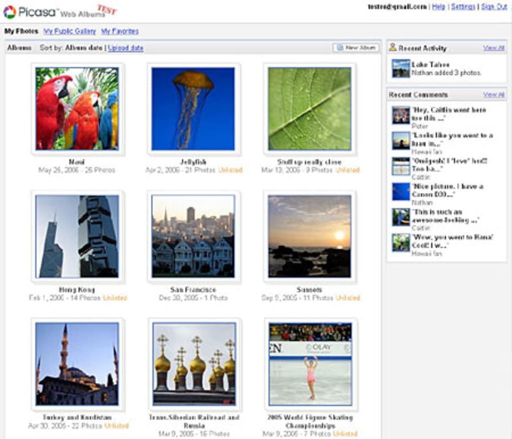 bilder aus picasa webalben