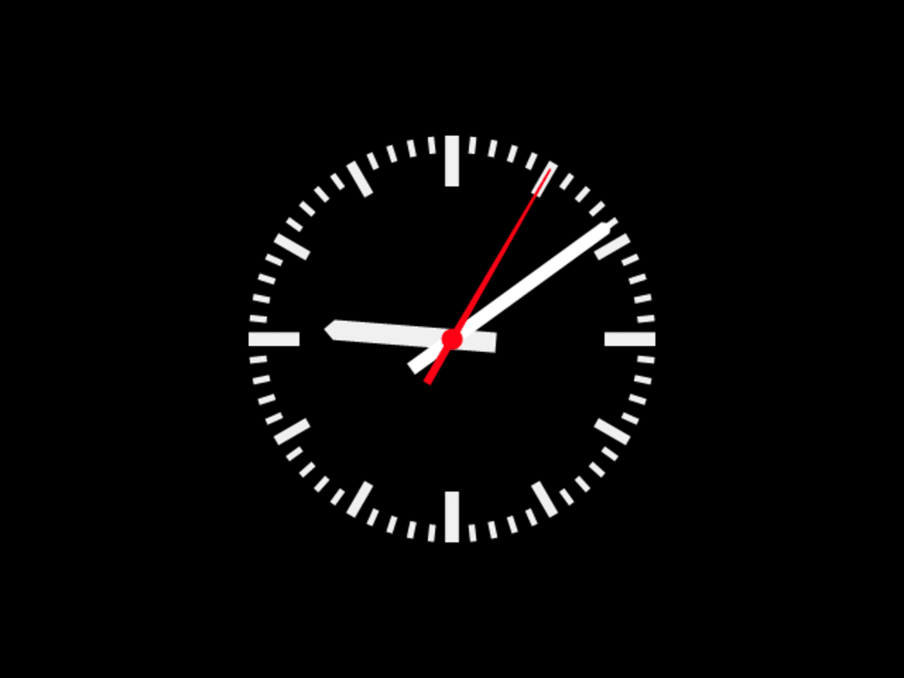 Analog DIN clock screensaver - Download