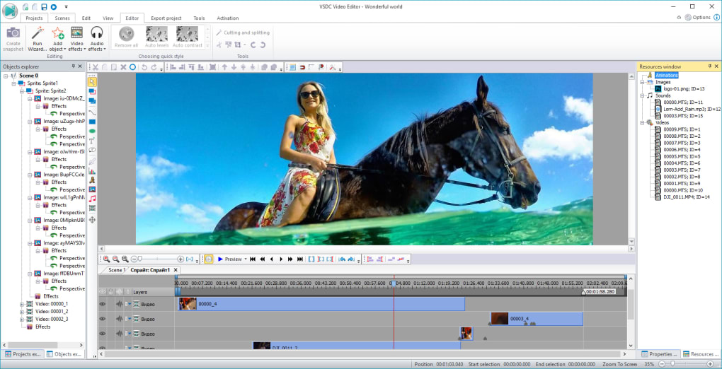 gratuitement vsdc free video editor