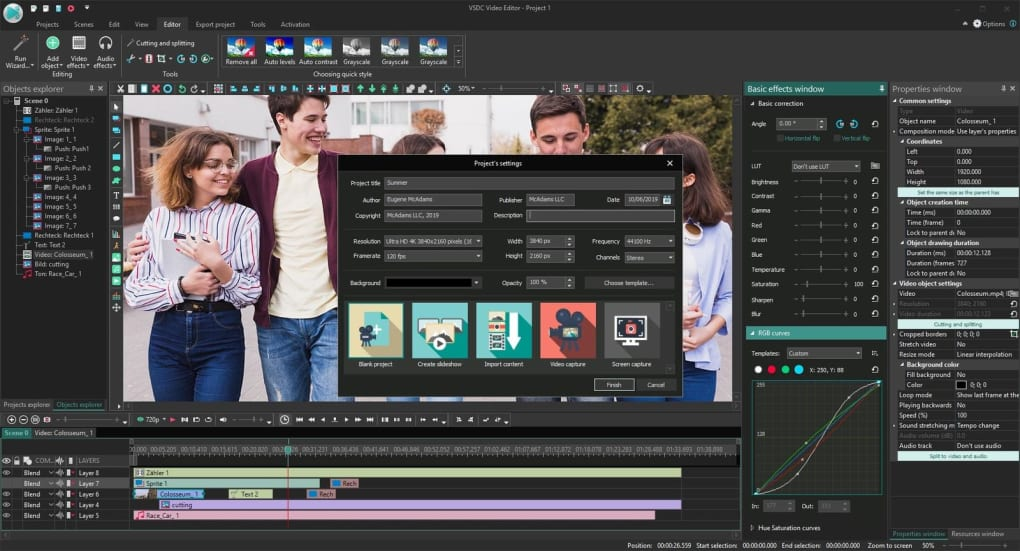 free video editing software picture in picture