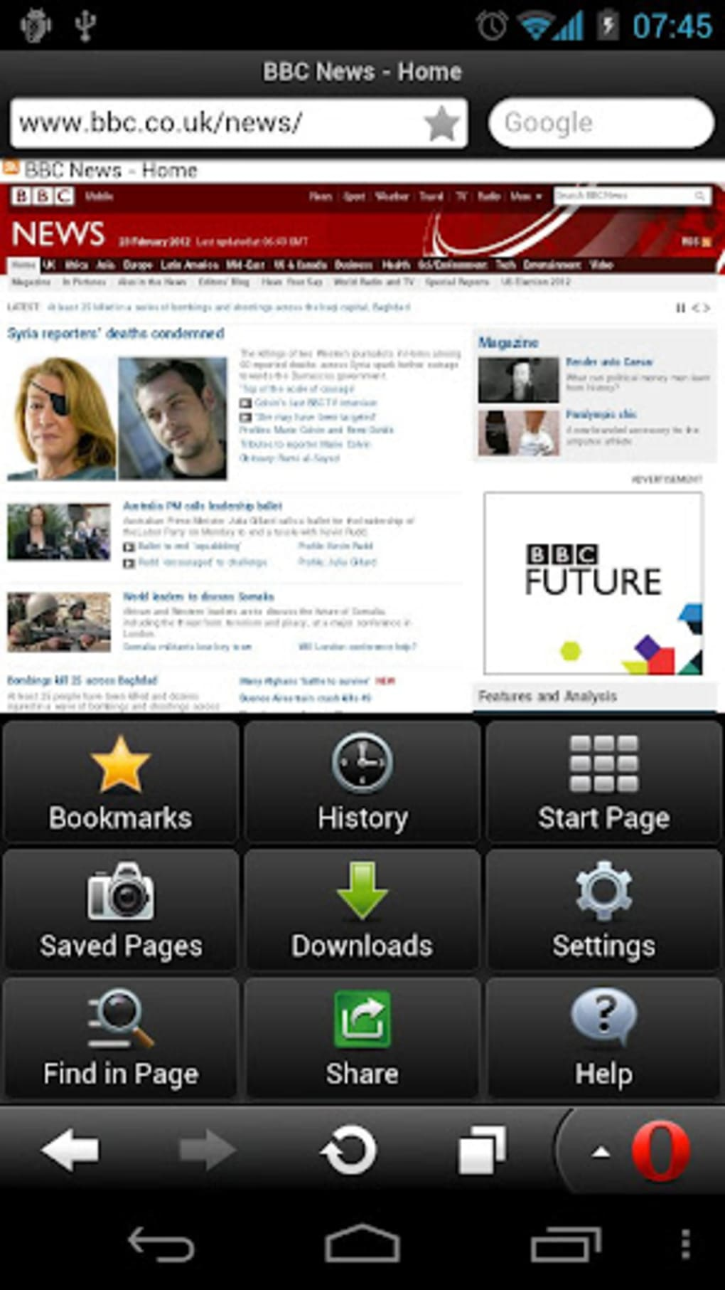 Opera Mini Next para Android - Download