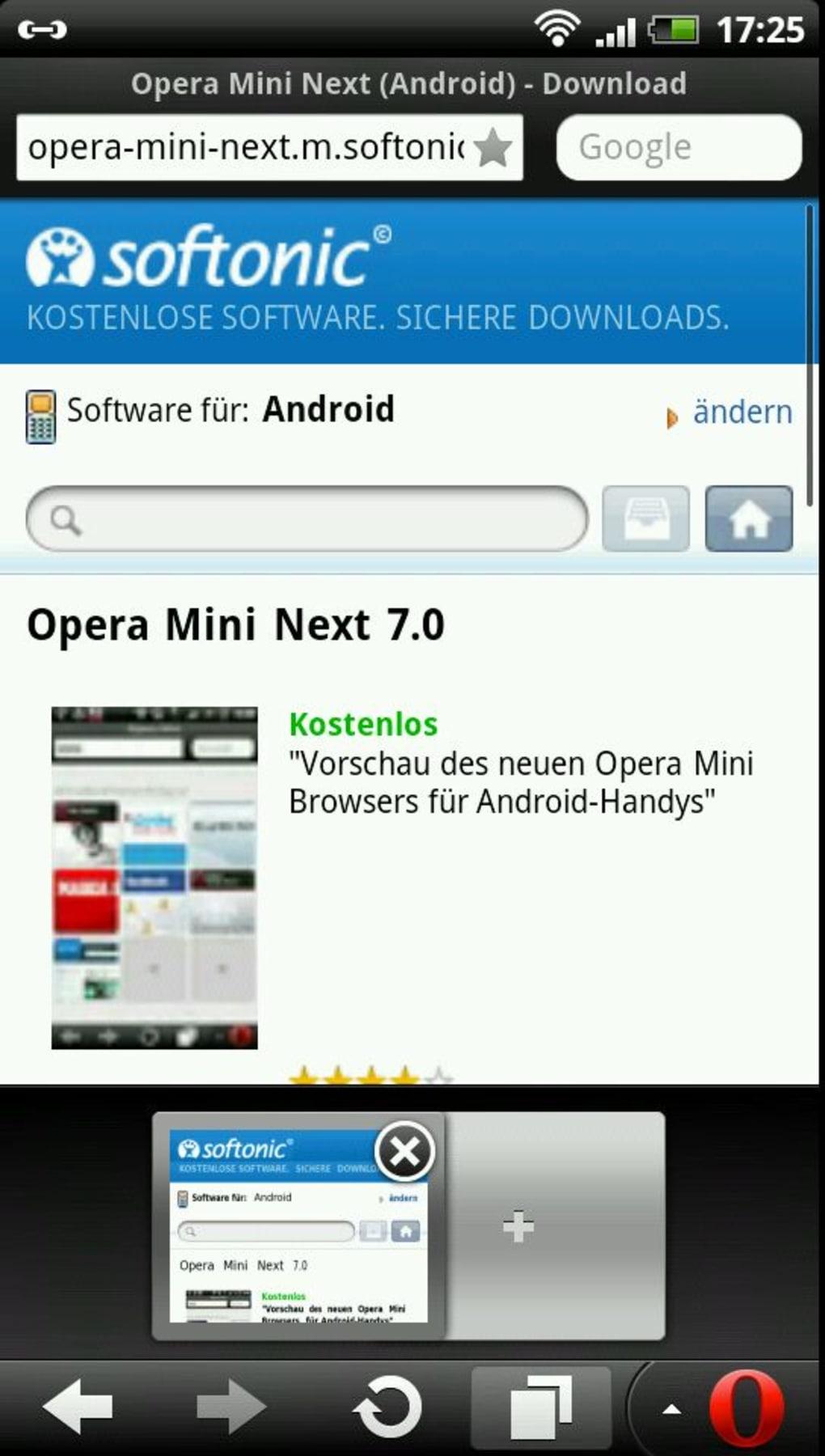 download opera mini 25