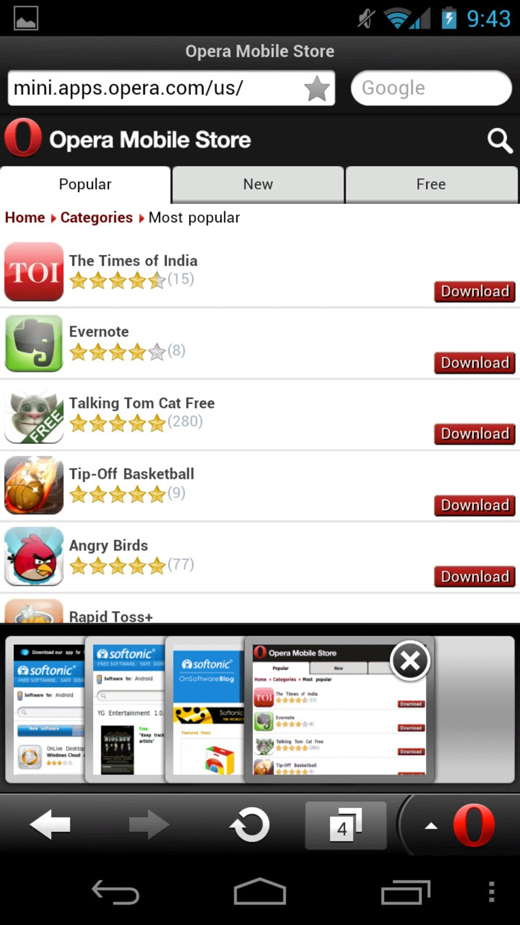 download opera mini for nokia 206
