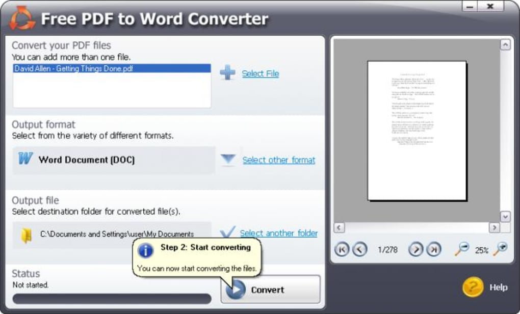 SmartSoft Free PDF to Word Converter - Télécharger