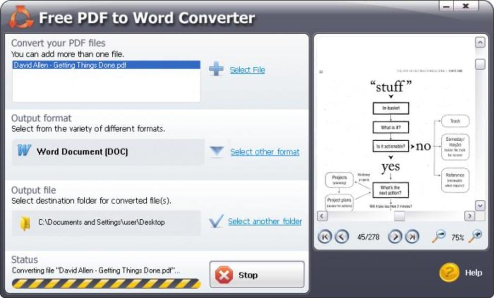 SmartSoft Free PDF to Word Converter - Download