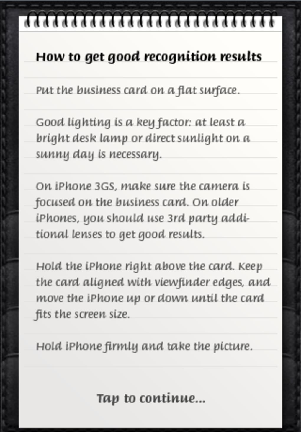 Business card reader for iphone download business card reader pros reheart Choice Image