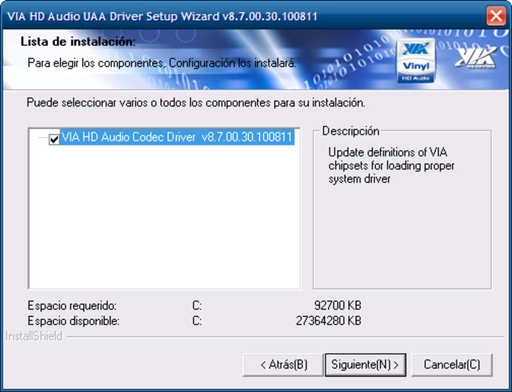 driver via vt8237a/8251 high definition audio controller pci