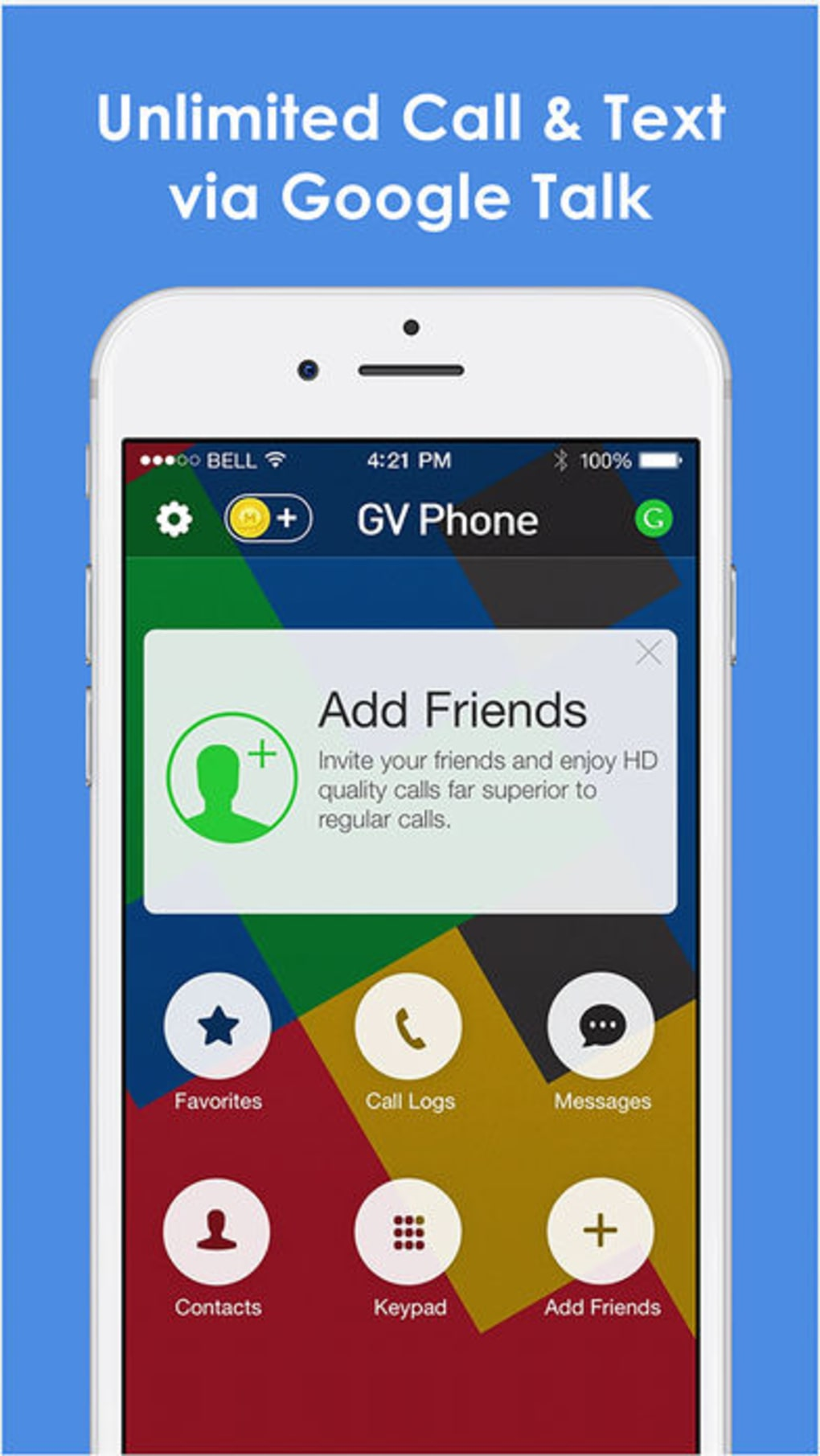 Phone for Google Voice & GTalk for iPhone - Download