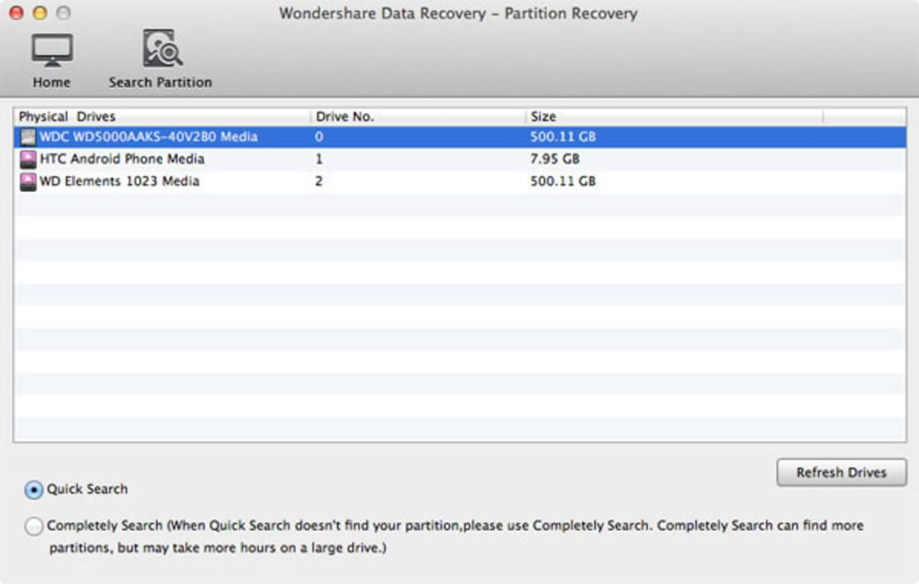 wondershare data recovery license key mac