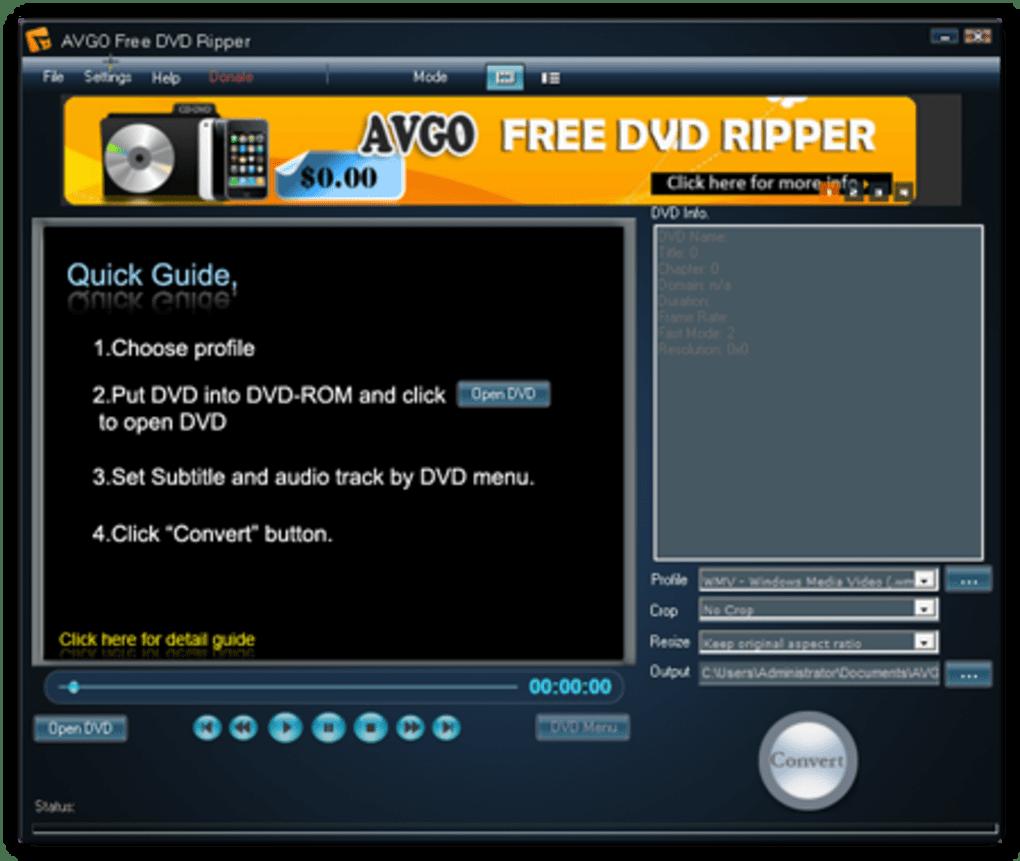 AVGO Free DVD Ripper - Download