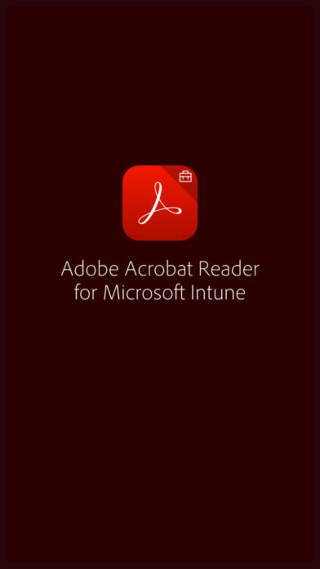 Adobe Acrobat Reader Intune for iPhone - Download
