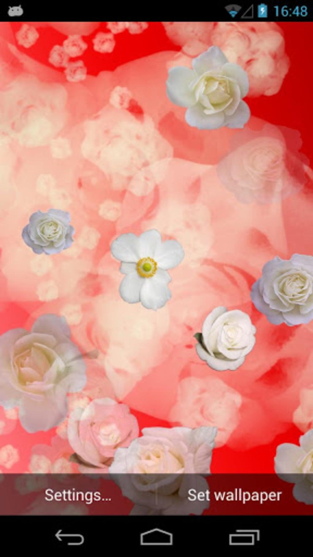 White Roses Live Wallpaper