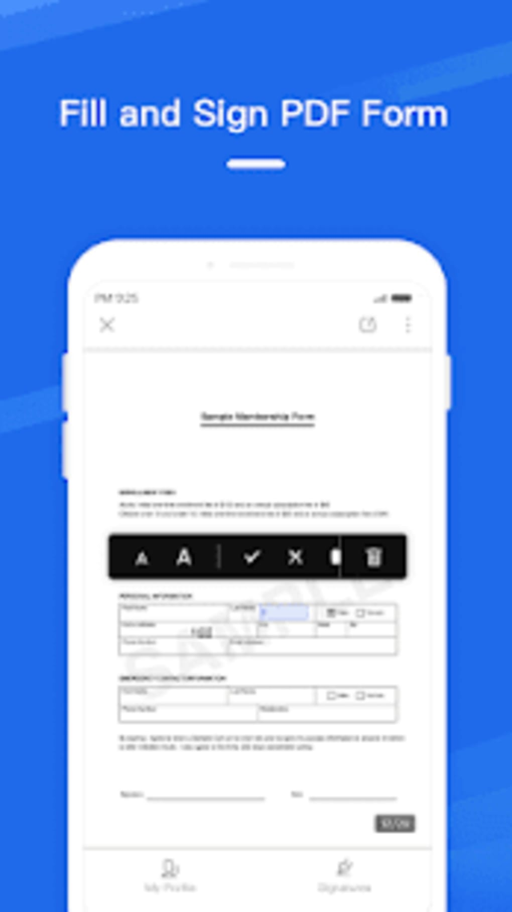 WPS Fill Sign لنظام Android - تنزيل