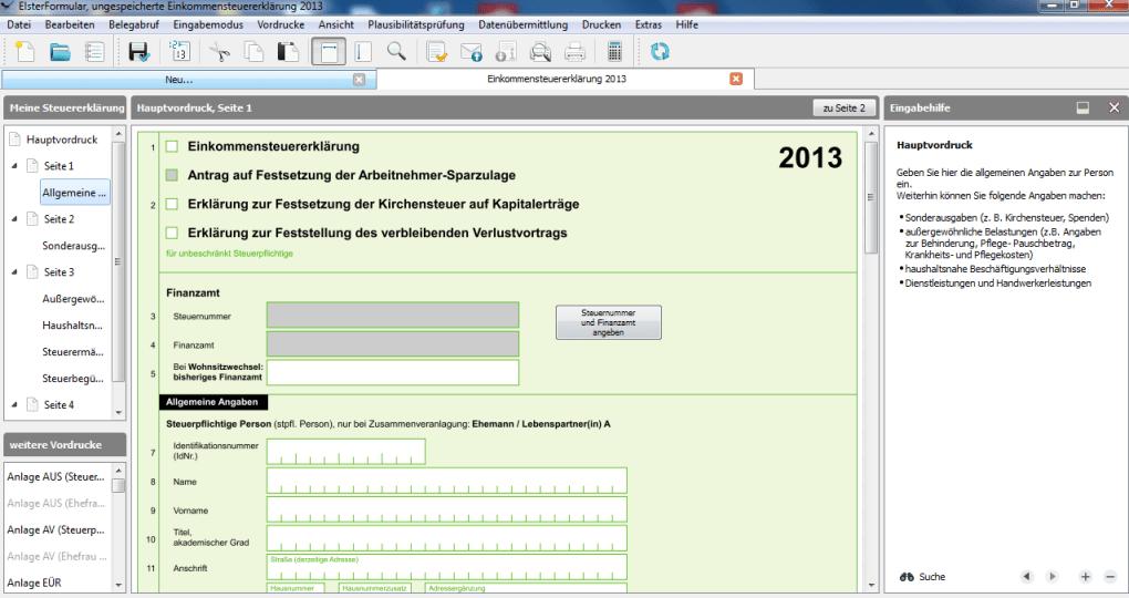 elsterformular 2011 kostenlos