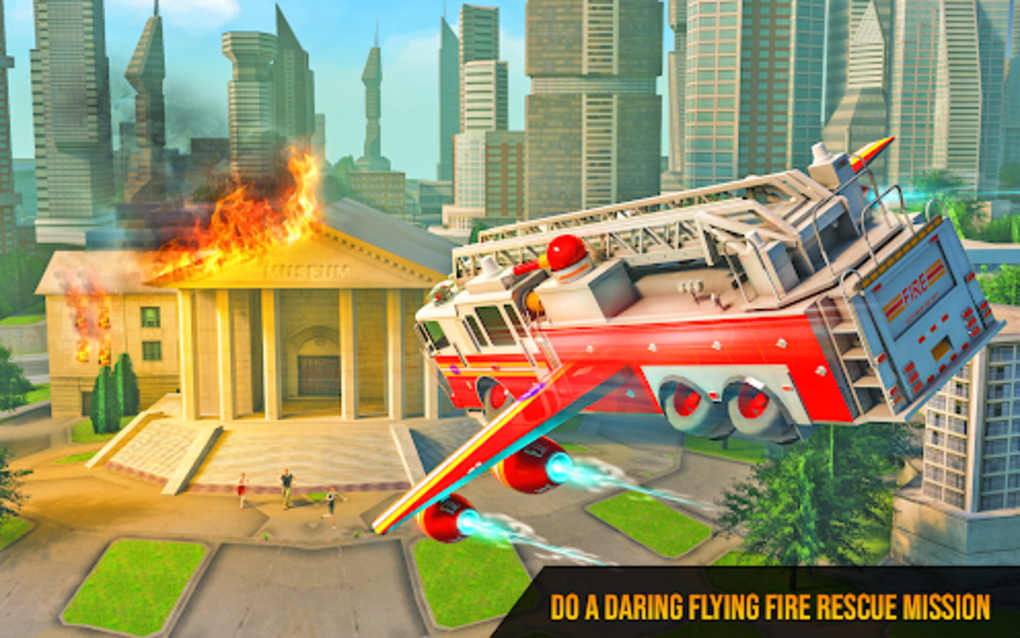 Flying Firefighter Truck Transform Robot Games for Android