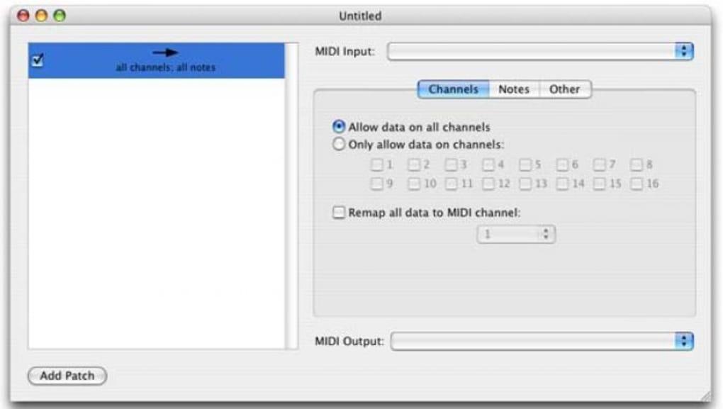 MIDI Patchbay para Mac - Descargar