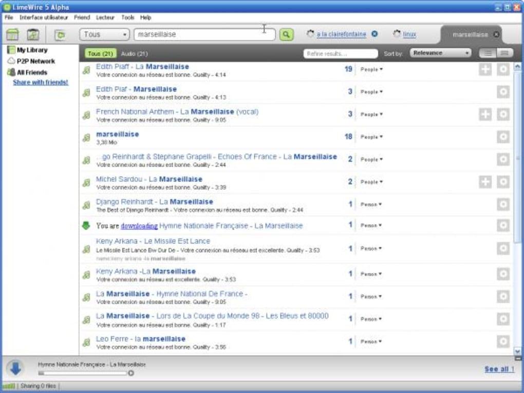 limewire gratuitement en francais 2012